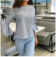 Женская летняя блузка из натуральной ткани