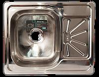 Мойка для кухни врезная прямоугольная 500 х 615 x 175/180 IMPERIAL 0,8 глянцевая