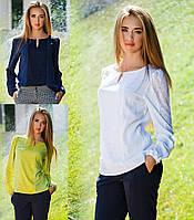 Женская нарядная блузка с гипюром