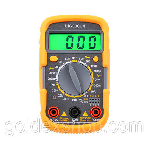 Тестер мультиметр 830 LN DT с подсветкой