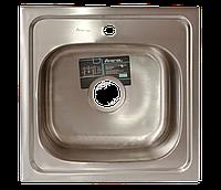 Мойка для кухни накладная квадрат  500 х 500 x 175/180 IMPERIAL 0,8 матовая