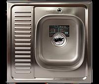 Мойка для кухни накладная квадрат правая 600 х 600 x 175/180 IMPERIAL 0,8 декор