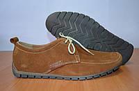 Замшевые туфли Ed-ge коричневые