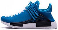Женские кроссовки Pharrell Williams x Adidas NMD Human Race Blue