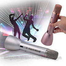 Беспроводной микрофон для караоке Tuxun k068 с динамиком!Опт, фото 3
