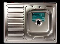 Мойка для кухни накладная прямоугольная правая 800 х 600 x 175/180 IMPERIAL 0,8 матовая