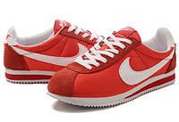 Кроссовки мужские Nike Cortez red, замшевые