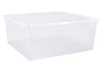 Контейнер для хранения вещей ЕВРО пластиковый прозрачный 45 л 580Х390Х280 мм Алеана ALN-122046