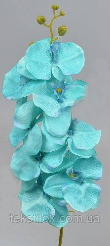 Орхидея искусственная бирюзовая 105 см Цветы искусственные