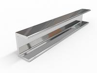 Алюминиевый швеллер 12х12х1,5 Анод 15 мкм 6м АД31Т5