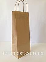 Бумажные пакеты бурый крафт 150х90х360