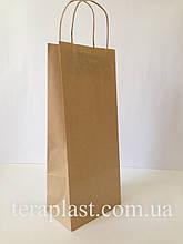 Бумажные крафт-пакеты бурые 150х90х360