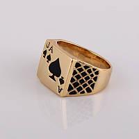 Перстень Покер покрытие золотом 18К
