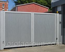 Розпашні ворота з ламелей 2 900 мм * 2 500 мм