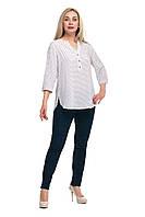 Женская блуза большого размера  1710019/2V Штапель хлопок