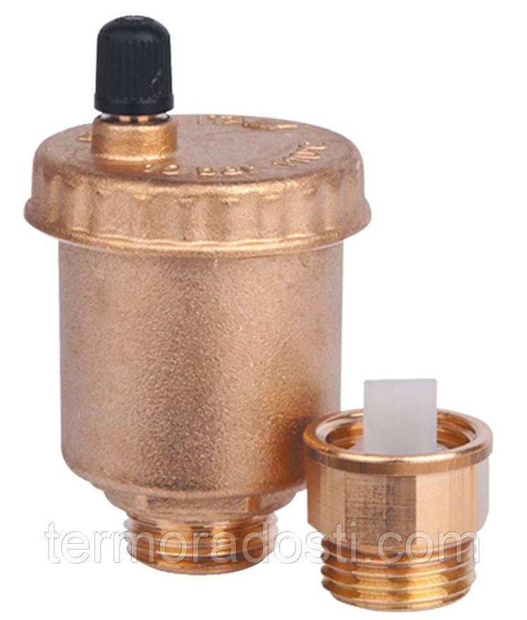 """Воздухоотводчик автоматический ICMA 1/2"""" поплавковый с запорным клапаном (арт. 707+710)"""