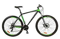"""Велосипед 29"""" Leon TN-90 AM 14G DD рама-19"""" Al черно-зеленый (м) 2017"""