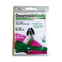 Фронтлайн Комбо, капли на холку для собак массой  20-40 кг, 1 пипетка