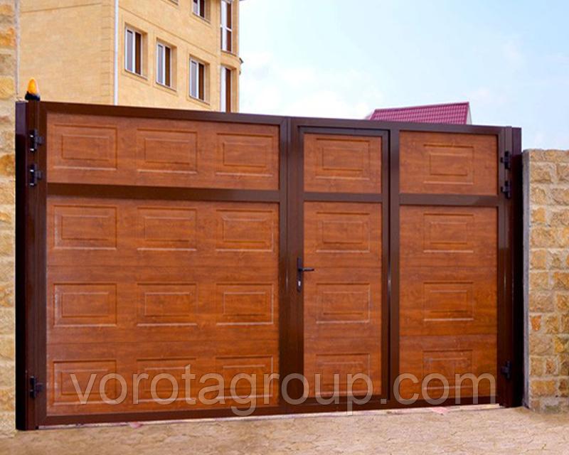 Ворота распашные Алютех ADS400 2,8м*2м