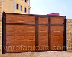 Ворота розпашні Алютех ADS400 2,8 м*2м