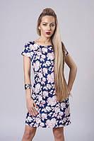 Платье мод. 277-12, размер 44,46,48 цветы (А.Н.Г.)