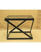 Стол кованый прямоуг. со стеклянной столешницей Сz12