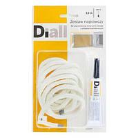 Ремонтный комплект для дверцы топки камина и печи, Diall + термостойкий клей