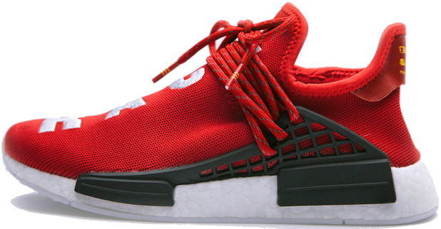 Женские кроссовки Pharrell Williams x Adidas NMD Human Race Red BB0616, Адидас НМД