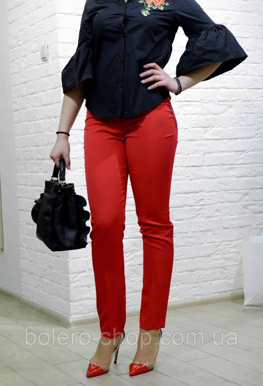 Женские брюки коралловые брендовые Италия