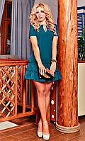 """Коктейльное женское платье с апликацией в виде """"битого стекла"""""""