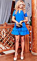 Привлекательное женское платье с рюшами хорошего качества