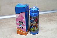 Термос Детский с поилкой-трубочкой и откидной крышкой - Disney Heroes 350мл