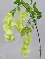 Вистерия Колокольчикоподобная свисающая белая 90 см Цветы искусственные