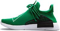 Женские кроссовки Pharrell Williams x Adidas NMD Human Race Green