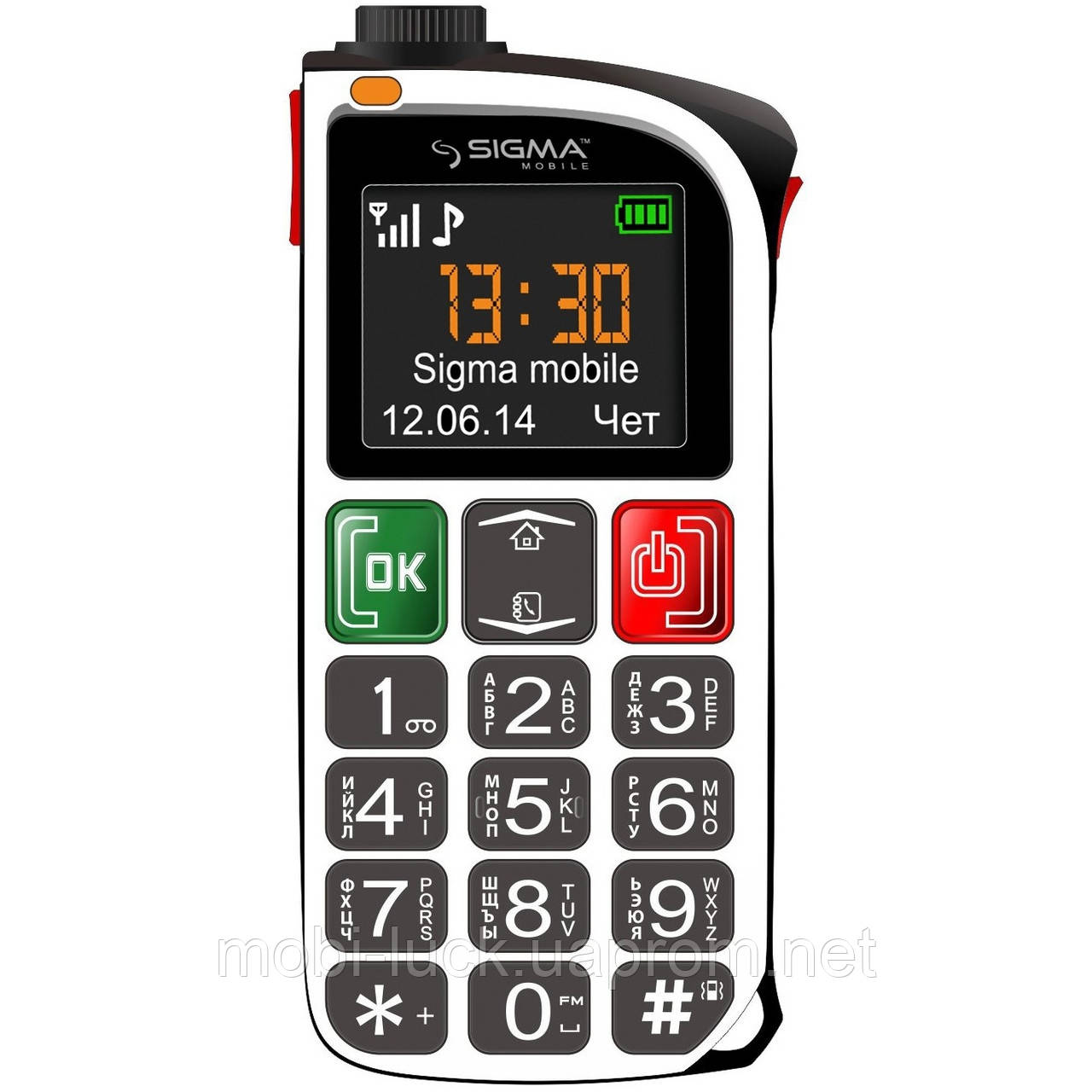 Телефон Sigma Comfort 50 Light 1,8 дюйма, 2 сим, 1100 мА/ч.