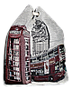 Женский пляжный рюкзак синего цвета Лондон UUU-000028