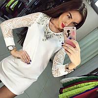 Женское платье с камнями DB-3474