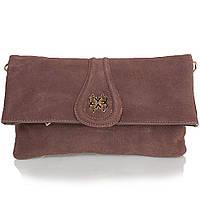 Сумка-клатч ANNA&LI Женская сумка-клатч из качественного кожезаменителя и натуральной замши ANNA&LI (АННА И ЛИ) TU13784-khaki