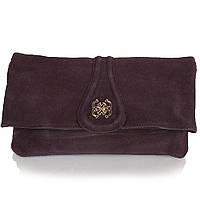 Сумка-клатч ANNA&LI Женская сумка-клатч из качественного кожезаменителя и натуральной замши ANNA&LI (АННА И ЛИ) TU13784-brown