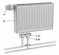 Стальной радиатор NewStar тип 11 высота 300, низ.