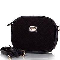 Клатч вечерний GUSSACI Женская сумка-клатч из качественного кожезаменителя и натуральной замши GUSSACI (ГУССАЧИ) TU14374-black