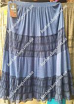 Летняя легкая женская юбка за колено 4582