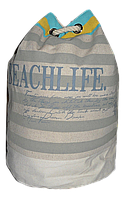 Женский пляжный рюкзак серая полоска мешок UUU-000029, фото 1