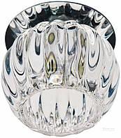 Встраиваемый декоративный точечный светильник с кристаллом Feron JD93 прозрачный хром