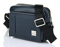 Горизонтальная сумка синего цвета Luxon