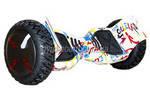 """Гироборд Smart Balance Wheel 10.0"""" (Тао-Тао, Самобаланс) Граффити Белый"""