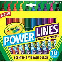 Фломастеры ароматические крайола, 10 цветов Washable, Crayola, фото 1