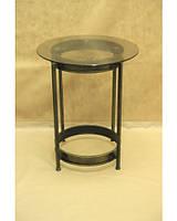 Стол кованый со стеклянной столешницей С08