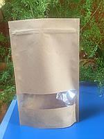 Дой Пак пакет 100х170х35 с окошком на 50гр продукции