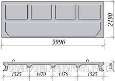 Плита ограждения ОПП-22
